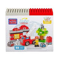 Mega Bloks - Set de constructie Pompieri, 55 cuburi