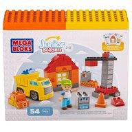 Mega Bloks - Set de constructie Santier cu camion, 54 cuburi