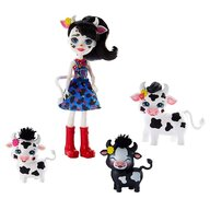 Enchantimals - Set papusa Cambrie Cow With Ricotta And Family Cu 3 figurine by Mattel