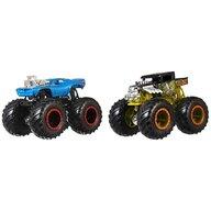 Hot Wheels - Set Bone Shaker vs Rodger Dodger by Mattel Monster Trucks Demolition Doubles