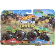 Hot Wheels - Set Raphael vs Leonardo by Mattel Monster Trucks Demolition Doubles