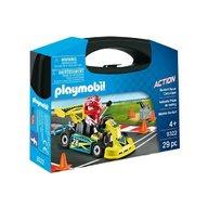 Playmobil - Set portabil Masinuta de curse