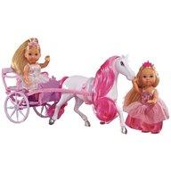 Simba - Set Evi Love Romantic Carriage cu 2 papusi 12 cm si caleasca