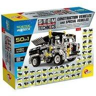Lisciani - Set de constructie Masinute pe santier 50 in 1 STEM