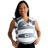 Baby K'tan - Sling K'tan Baby Carrier Print Charcoal Stripe din Bumbac, Alb/Gri