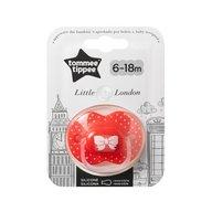 Tommee Tippee - Suzeta ortodontica pentru fetite Little London 6-18 luni, Rosu