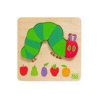 Rainbow Design - Puzzle din lemn The Very Hungry Caterpillar Omida Puzzle Copii, pcs  4