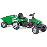 Pilsan - Tractor cu pedale Active Cu remorca, Verde