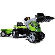 Smoby - Tractor cu pedale si remorca Farmer Max verde