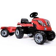 Smoby - Tractor cu pedale si remorca Farmer XL rosu