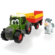 Dickie Toys - Tractor Happy Fendt Animal Trailer cu remorca si figurina