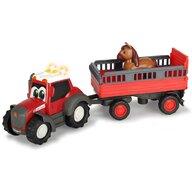 Dickie Toys - Tractor Happy Ferguson Animal Trailer Cu remorca,  Cu figurina cal