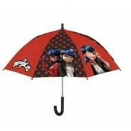Umbrela manuala 42 cm, Cu inchidere cu siguranta Disney Lady Bug