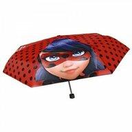 Umbrela manuala 50 cm, Cu inchidere cu siguranta si protectie pentru vant Disney Lady Bug