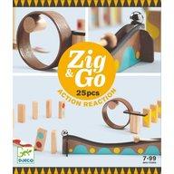 Djeco - Set de constructie trasee Zig&Go, 25 piese