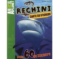 Animal Planet Carte cu stickere: Rechini