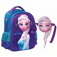 Ghiozdan Frozen de gradinita cu masca Elsa