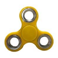 Jucarie Antistres Finger Fidget Whirlerz Spinner galben pentru copii si adulti