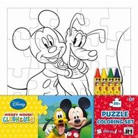 Puzzle de colorat Mickey Club