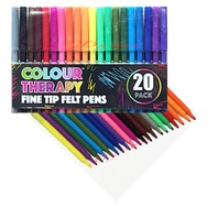 Colour Therapy - Carioci fine, 20 Culori