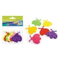 Set creativ - Aplicatii textile in forma de buburuze colorate