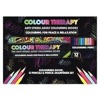 Set de colorat portabil Deluxe, Colour Therapy, 96 pag