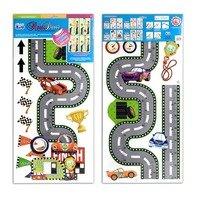 Sticker pentru perete Traseu Rally cu vehicule