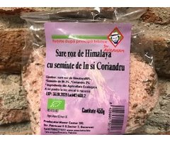NATURAL SARE ROZ DE HIMALAYA CU SEMINTE DE IN SI CORIANDRU 450 GR