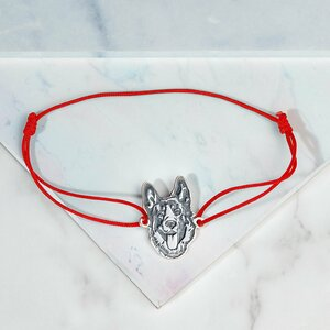 Bratara cap de Ciobanesc - Argint 925, snur reglabil