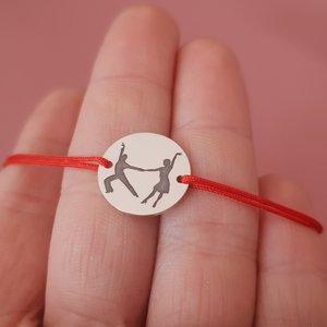 Bratara - Dans de cuplu - Latino - Argint 925 si snur rosu