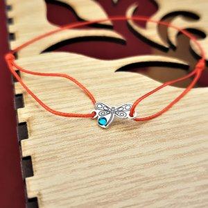 Bratara Libelula - Argint 925 - cristal Swarovski - snur reglabil