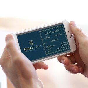 Card Cadou - Chic Bijoux - Voucher online pentru achizitii de bijuterii personalizate