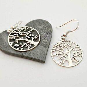 Cercei cu tortita - Copacul vietii - Argint 925
