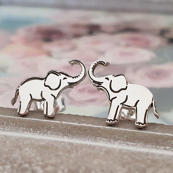 Cercei Elefant - Argint 925, surub