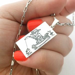 Lant cu pandantiv - Pescarul norocos - Argint 925