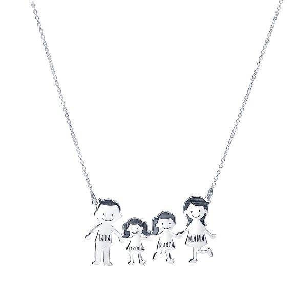 Lantisor Familie - 4 Membri - Argint 925