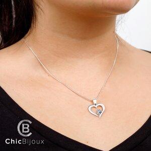 Lantisor Inima cu Labuta - Argint 925
