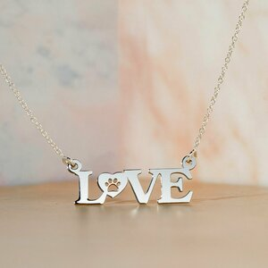 Lantisor Love cu Labuta - Argint 925