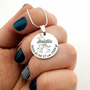 Lantisor personalizat - Banut Botez - Argint 925