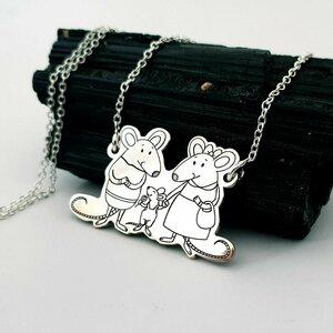 Lantisor personalizat - Familia Soricel - Argint 925