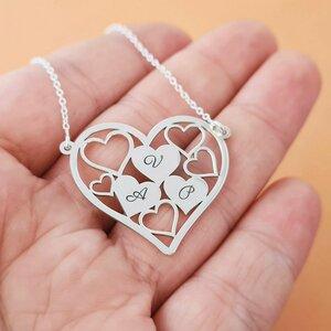 Lantisor personalizat - Inima din inimi - Argint 925