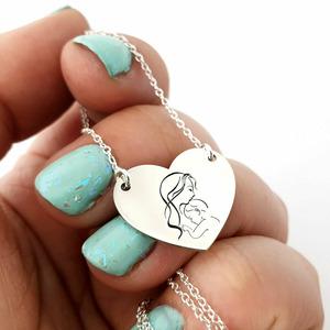 Lantisor personalizat - Iubire de mama - Argint 925