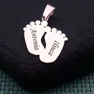 Pandantiv picioruse personalizate - Argint 925