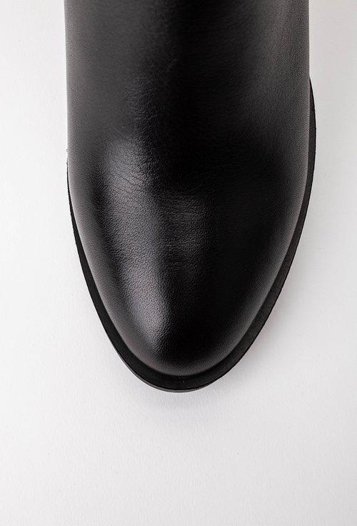 Botine negre cu detalii snake print gri