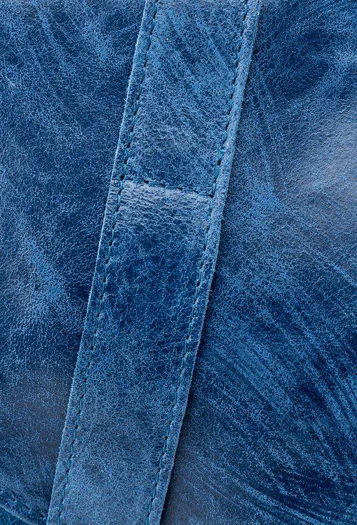 Geanta din piele naturala bleumarin deschis Janette