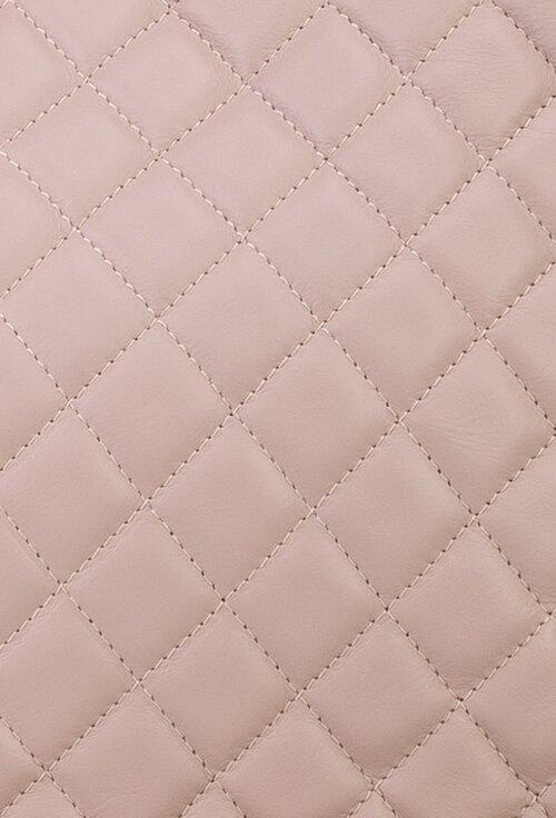 Geanta din piele nuanta roz cu aspect matlasat