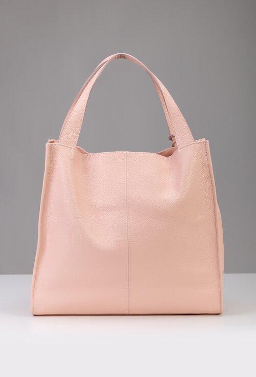 Geanta nuanta roz pal din piele naturala