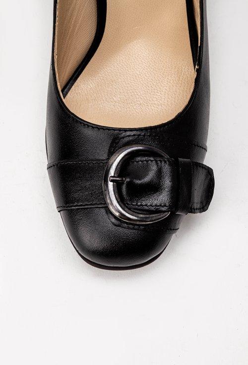 Pantofi negri din piele naturala Adele