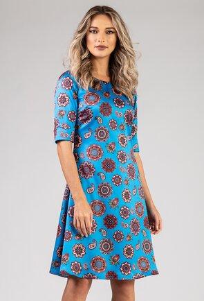 Rochie albastra cu imprimeu mandala