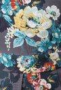 Rochie gri cu imprimeu floral colorat Patrice